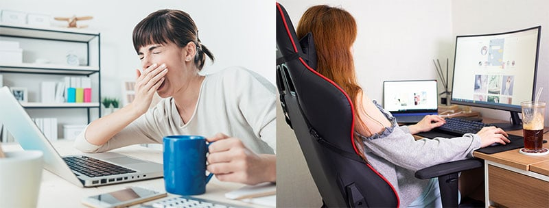 Benefits of sitting with good posture