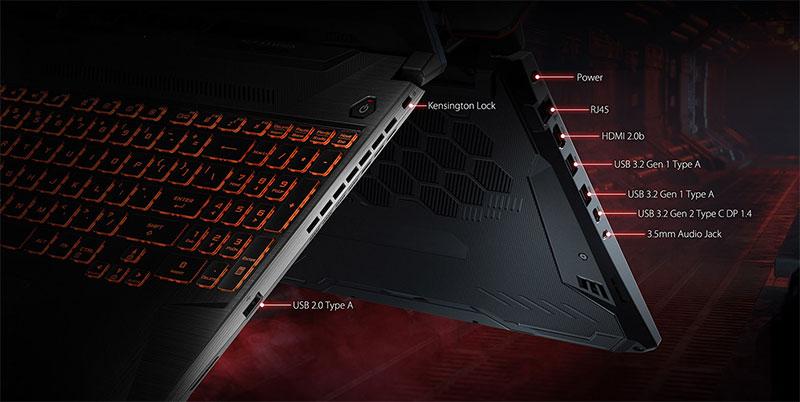 ASUS TUF laptop ports