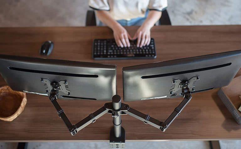 VIV dual monitor desk mount