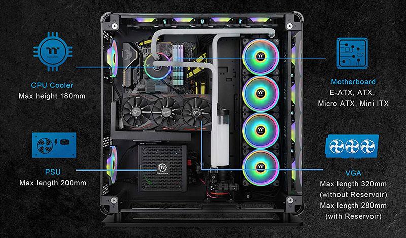 Thermaltake Core P8 PC case specs